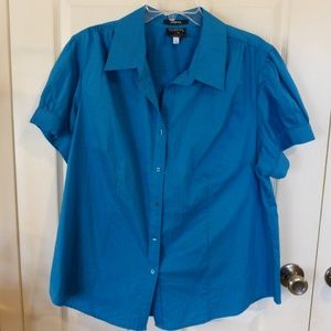 Turquois Button up blouse
